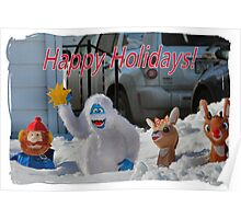 Merry Christmas from Rudolph and crew Poster