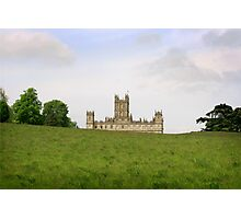 Green rolling hills towards Downton abbey Photographic Print