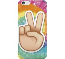 tie dye peace emoji iPhone Case/Skin