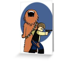 Han and Chewie Mini Greeting Card