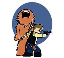Han and Chewie Mini Photographic Print