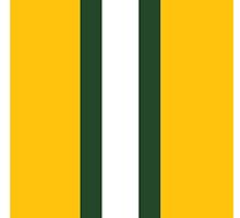 Green Bay Packers helmet stripe by topkartracer