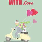 MAN, DOG AND VESPA, WITH LOVE by Jane Newland