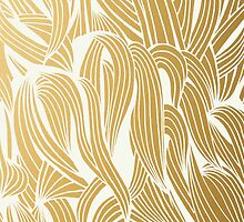 Gold & White Pattern by Cat Coquillette