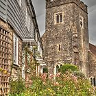 Plaxtol Church From Church Row by Dave Godden
