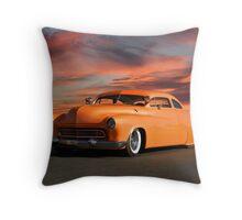 1950 Mercury Custom Sedan Throw Pillow