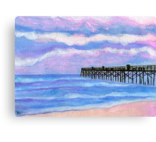 Flagler Beach Pier' Canvas Print