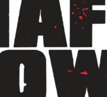 Mafia Town Logo (Black/White) Sticker