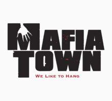 Mafia Town Logo (Black/Red) by MafiaTown
