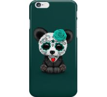 Teal Blue Day of the Dead Sugar Skull Panda iPhone Case/Skin