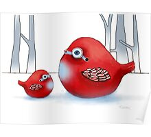 Little Red Robins Poster