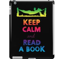 KEEP CALM AND READ A BOOK (RAINBOW) iPad Case/Skin