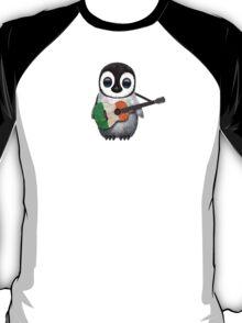 Baby Penguin Playing Irish Flag Guitar T-Shirt