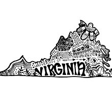Hipster University of Virginia Outline by alexavec