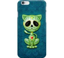 Green Zombie Sugar Kitten Cat iPhone Case/Skin