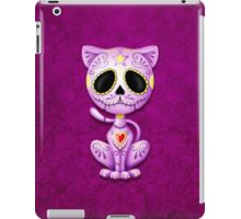 Purple Zombie Sugar Kitten Cat iPad Case/Skin