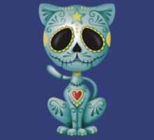 Blue Zombie Sugar Kitten Cat T-Shirt