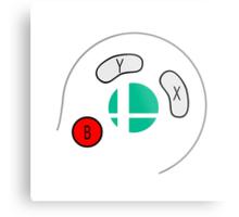 Smash Bros Gamecube Controller Metal Print