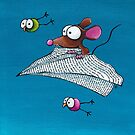 Mouse in a paper aeroplane by StressieCat