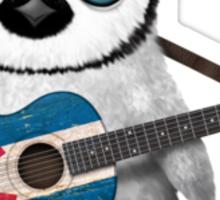 Baby Penguin Playing Colorado Flag Guitar Sticker