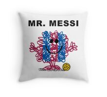 Mr. Messi Throw Pillow