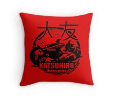 Akira Katsuhrio Cycles Throw Pillow