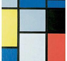 Piet Mondrian Full Colour by xiiaocaseshop