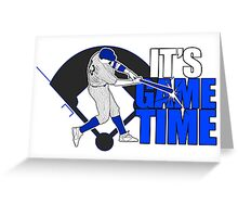 It's Game Time - Baseball (Blue) Greeting Card