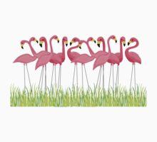 Pink Flamingos Illustration Kids Clothes