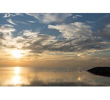 Blinding Bright Sunrise with a Sundog Photographic Print