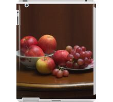 Still life with apples and grapes iPad Case/Skin