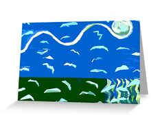 SEAGULLS OVER OCEAN 2 Greeting Card