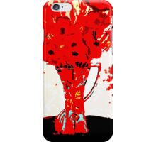 RED FLOWERS IN A VASE iPhone Case/Skin