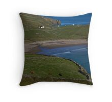 Traloar Beach, Muckross Head, Donegal Throw Pillow