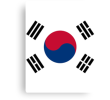 Living Korea Flag Canvas Print