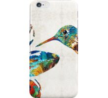 Colorful Hummingbird Art by Sharon Cummings iPhone Case/Skin