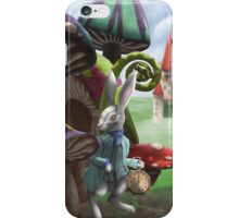 Rabbit in the Wonderland Toadstool Forest iPhone Case/Skin