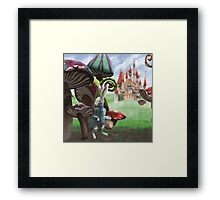 Rabbit in the Wonderland Toadstool Forest Framed Print