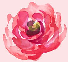 Watercolor Pink Peony Photographic Print