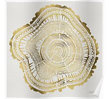 Gold Tree Rings Poster