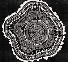 Woodblock Tree Rings by Cat Coquillette
