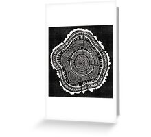 Woodblock Tree Rings Greeting Card