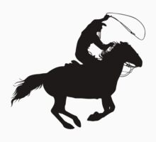 Rodeo Theme - Calf Roping Silhouette by SandpiperDesign