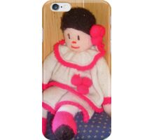 Doll with pink socks iPhone Case/Skin