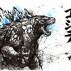 Godzilla Sumi style by Mycks