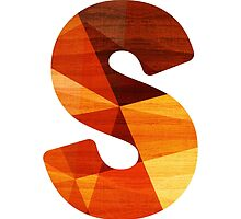 Letter S - Wooden Initial  by TabithaBianca