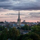 Norwich City Skyline by Ruski