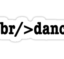 breakdance HTML Sticker