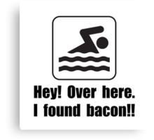 Found Bacon Canvas Print