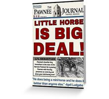 Little Horse is Big Deal! Greeting Card